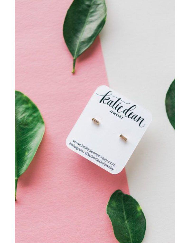 Katie Dean Jewelry Baguette Studs