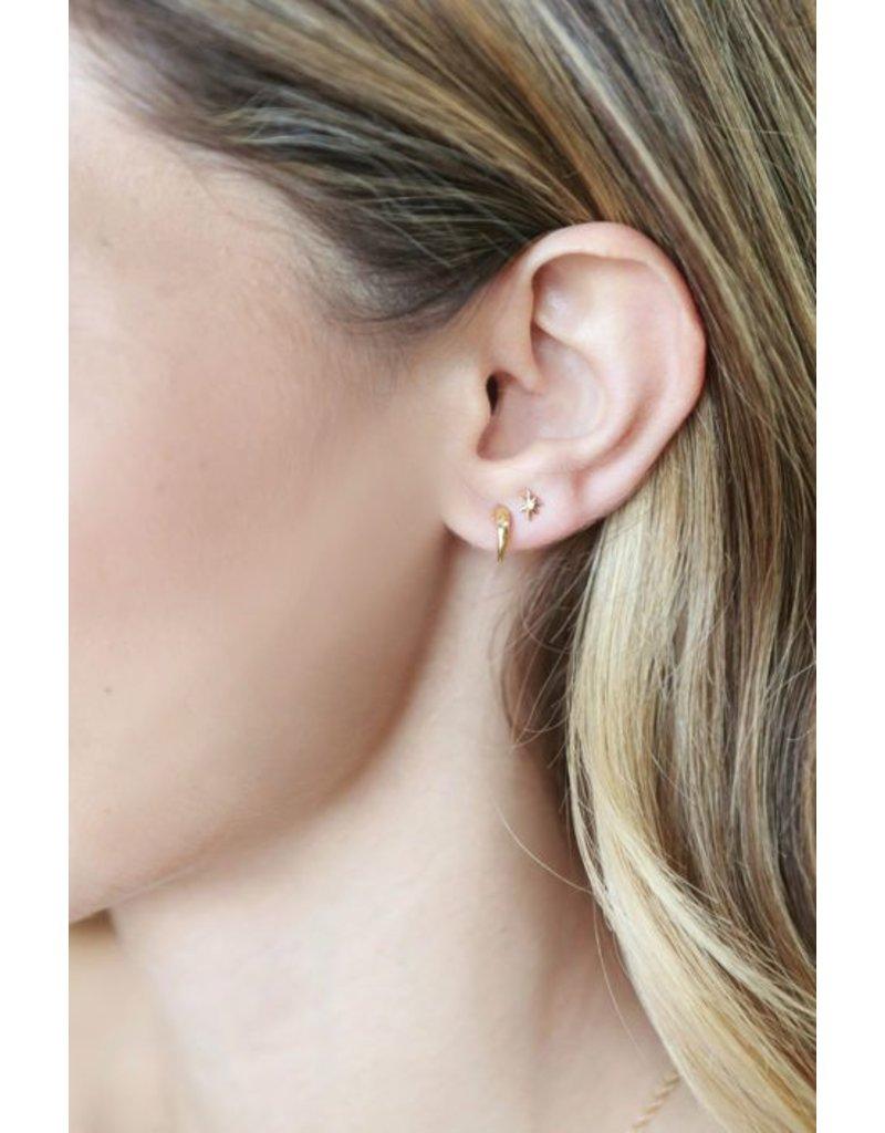 Katie Dean Jewelry Claw Gem Studs