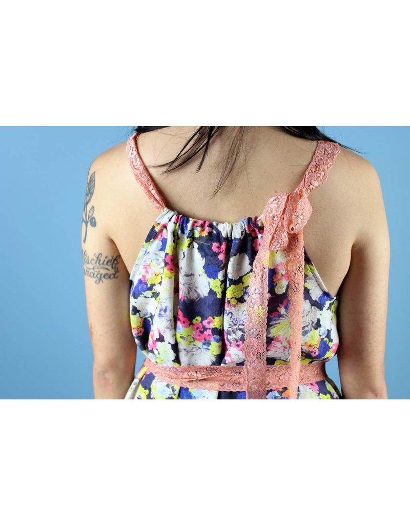 Sarah Bibb Kestly Super Ruffle - Neon Floral Lace