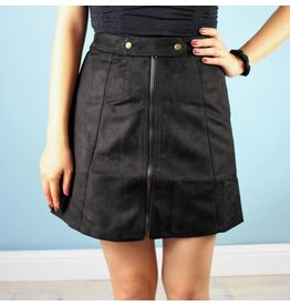 Bishop + Young Lexi Zip A-Line Skirt- Black