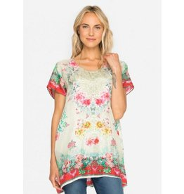 Johnny Was Silk Side Split Tunic - Whisper