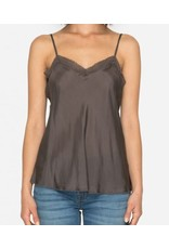Johnny Was Silk Lace Trimmed Camisole - Falcon