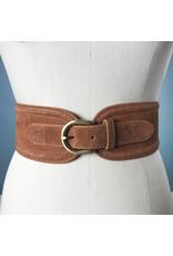 Elise M. Suede Waist Belt - Cognac
