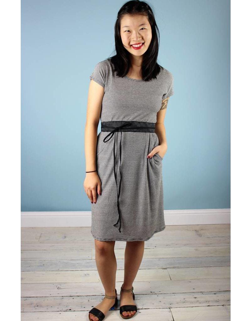 Sarah Bibb Jamie Dress - B&W Mini Stripe