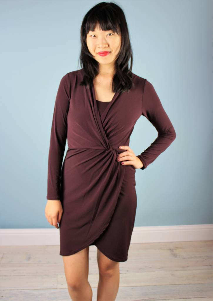 Velvet Violette L/S Dress - Vino