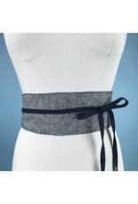 Sarah Bibb Obi Belt  - Grey Suit