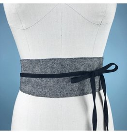 Sarah Bibb Obi Belt  - Grey Suit