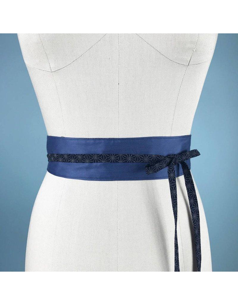 Sarah Bibb Mini Obi Belt  - French Blue