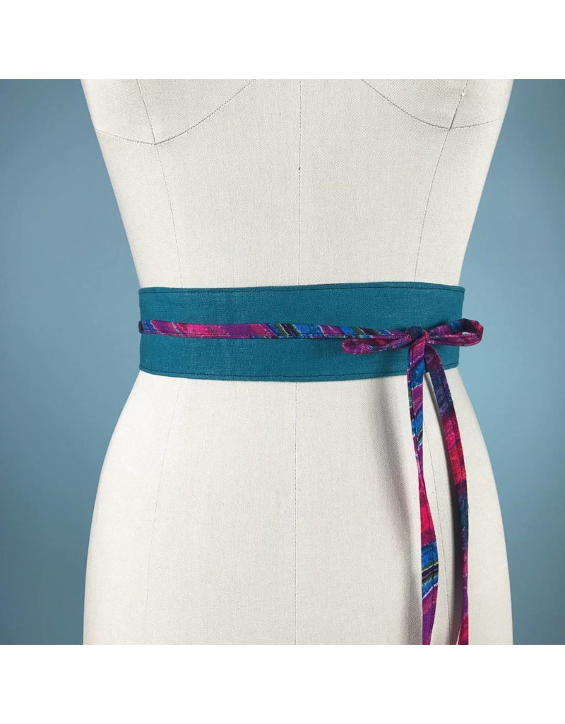 Sarah Bibb Mini Obi Belt  - Teal