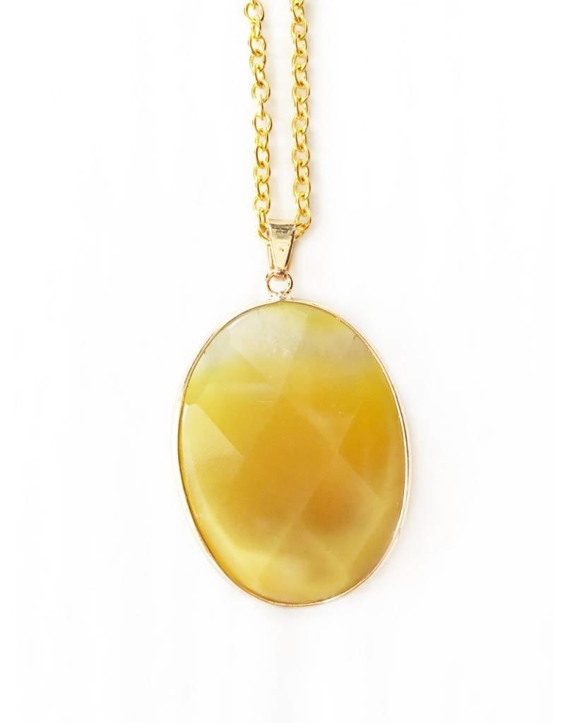 Nicole Weldon Large Agate Pendant Necklaces