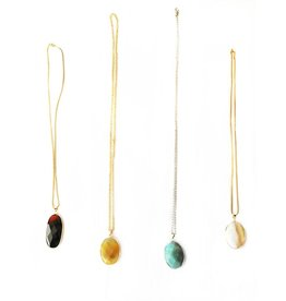 Nicole Weldon Large Agate Pendant Necklaces