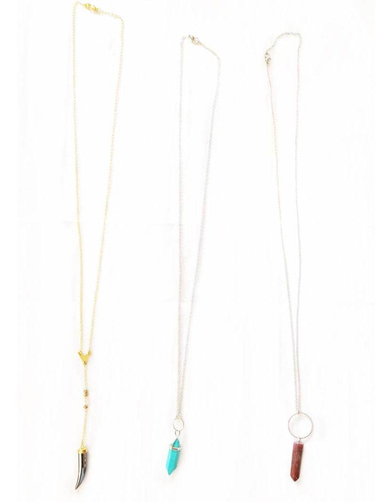 Nicole Weldon Stone Point Necklaces