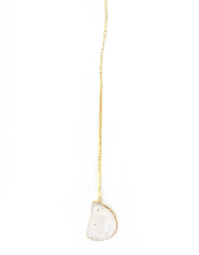 Nicole Weldon Crystal Slice Pendant Necklace