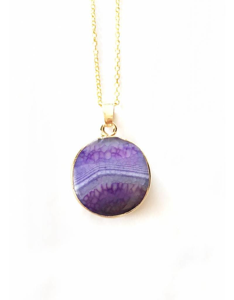 Nicole Weldon Small Agate Pendant Necklaces