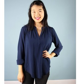 Velvet Celeste Blouse - Midnight