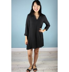 Shelly Collar Tunic - Black