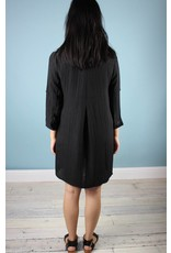 Shelly Collar Tunic - Black