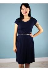 Sarah Bibb Jamie Dress -NAVY/Blk Mini Stripe