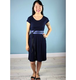 Sarah Bibb Jamie Dress -NAVY/Blk Mini Stripe