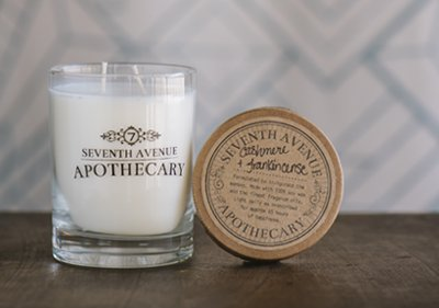 Seventh Avenue Apothecary Glass Jar Candle - Cashmere & Frankincense
