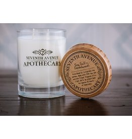 Seventh Avenue Apothecary Glass Jar Candle - Sea Salt & Sandalwood