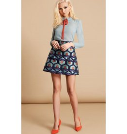 Traffic People Shay Mini Skirt - Blues