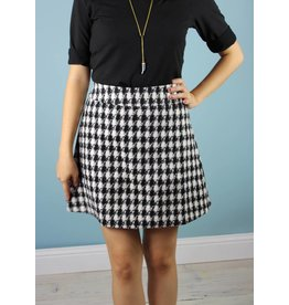Traffic People Shay Mini Skirt - Houndstooth