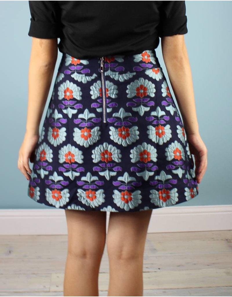 Traffic People Shay Mini Skirt - Blues