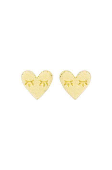 Katie Dean Jewelry Heart Studs