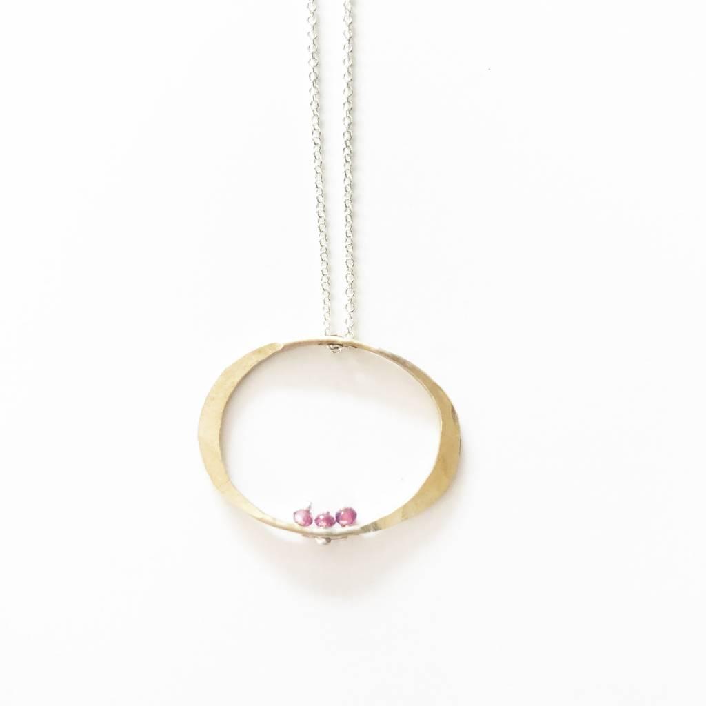 Kiersten Crowley Ruby Oval Necklace