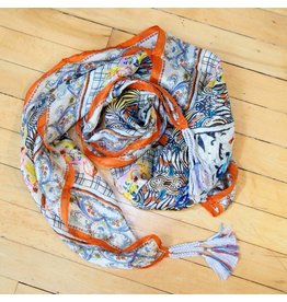 Johnny Was Silk Tassel Scarf - Tribute