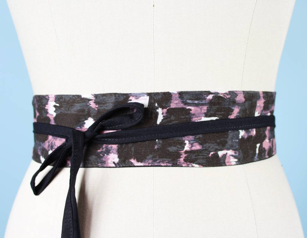 Sarah Bibb Mini Obi Belt- Painterly