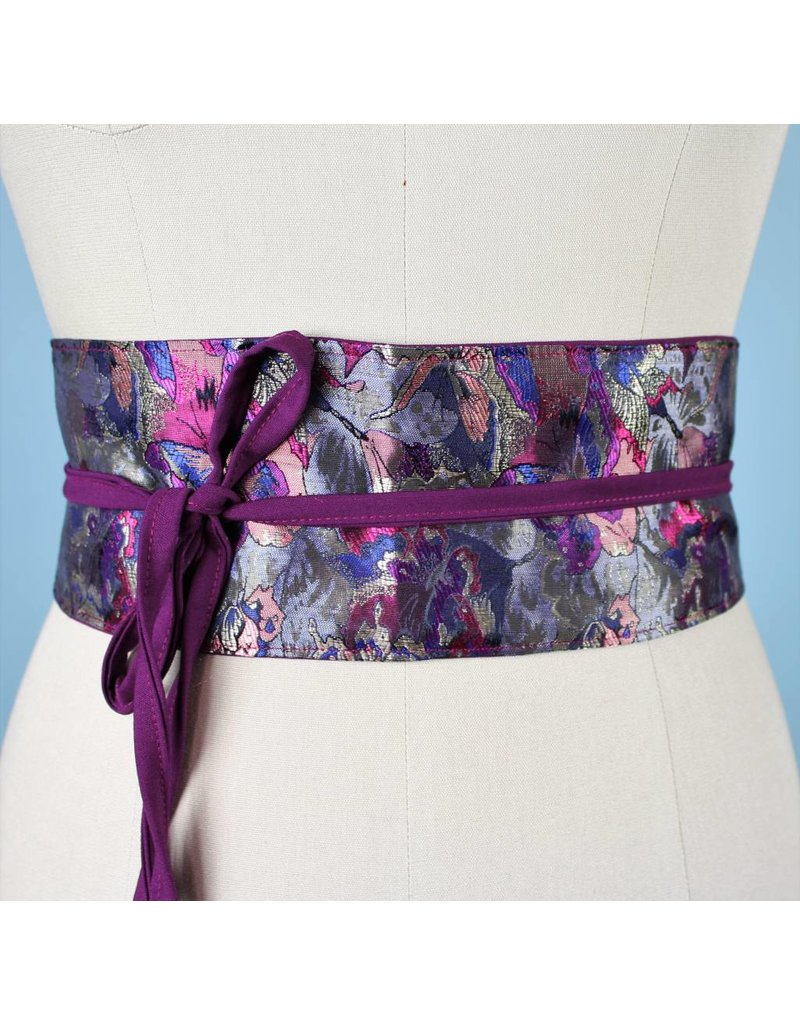 Sarah Bibb Obi Belt  - China Butterfly /Purple