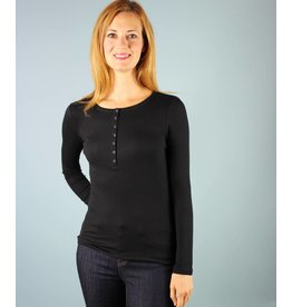 Nanavatee Ribbed Henley - Black