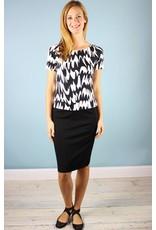 Knit Pencil Skirt - Black