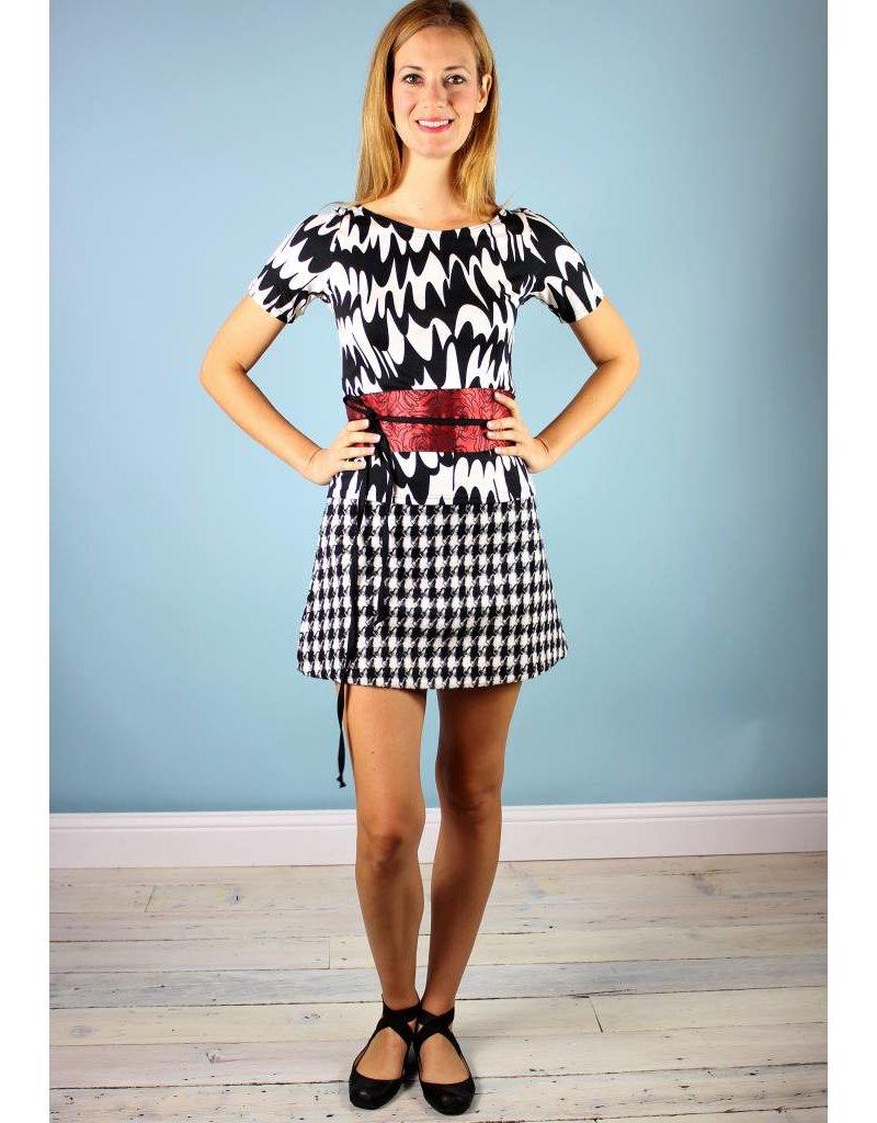 Traffic People Shay Mini Skirt - Houndstooth