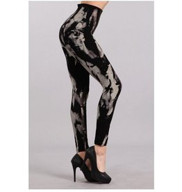 M Rena Tummy Tuck Leggings  - Abstract Grunge