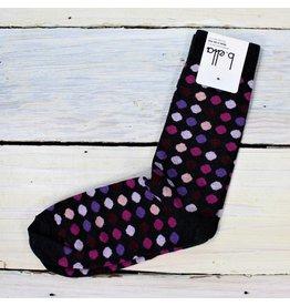 B. Ella Arlean Polka Dot Socks