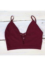 Suzette Lattice Bralet - Vino