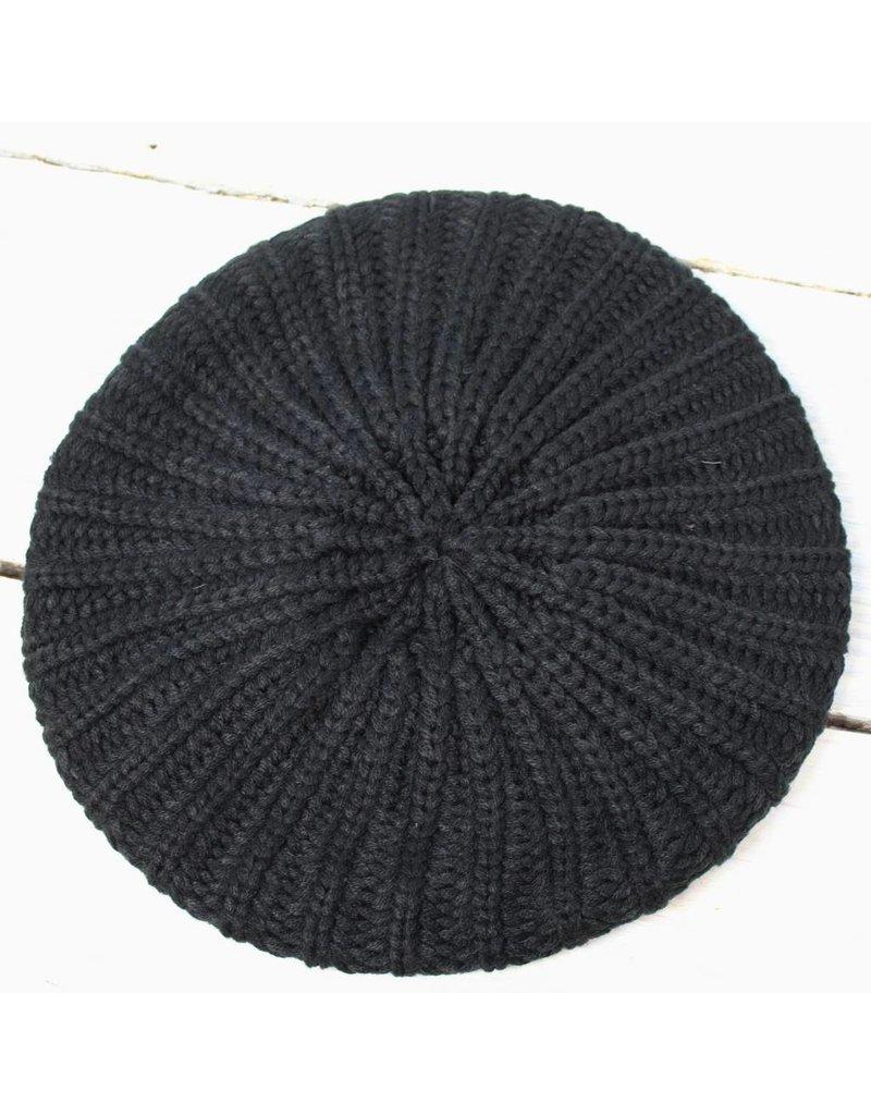 Knit Beret - Black