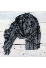Hand Stitched Scarf - Blues