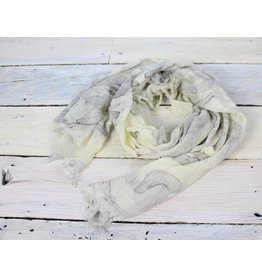 Cotton Marble Scarf - Sand