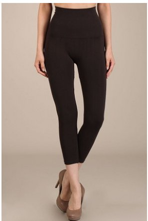 M Rena Tummy Tuck Cropped Leggings by M Rena - Brown