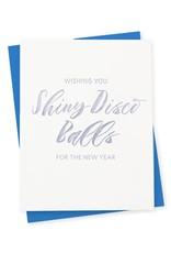 417 Press Shiny Disco Balls Card
