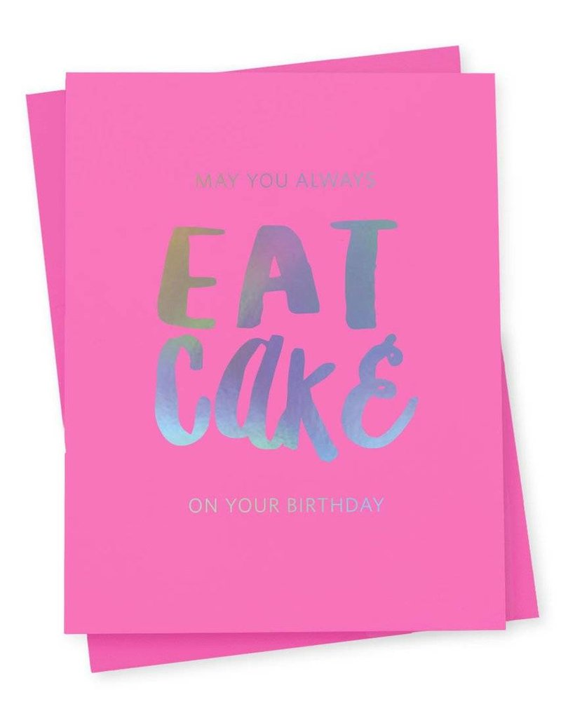 417 Press Eat Cake Card