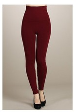 M Rena Tummy Tuck Leggings by M Rena - Burgundy