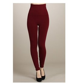 M Rena Tummy Tuck Leggings - Burgundy