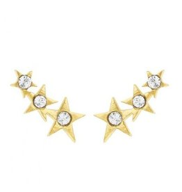 Katie Dean Jewelry Starburst Ear Crawler