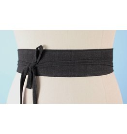 Sarah Bibb Mini Obi Belt- Coal
