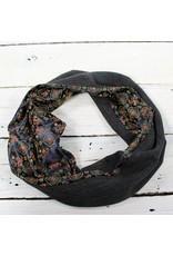 Sarah Bibb Single Loop Infinity Scarf - China Dragon/Charcoal